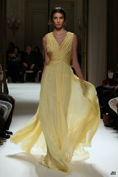 Georges Hobeika 2012, Simply nice to be a colored wedding gown! Sharing from The Louvre Bridal (www.thelouvrebridal.com)
