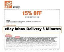 One 1x Home Depot 15 Off Coupon Save Up To 200 Instore Only Fast Sent In 2020 Home Depot Coupons Home Trends First Home