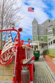 A ride in the Nantucket Hotel's vintage fire truck is just one of 5 reasons the charming Nantucket Hotel is right for families.