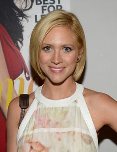 Brittany Snow B.o.B - Brittany Snow kept it classic with this sleek bob at the Elizabeth and James collection party.