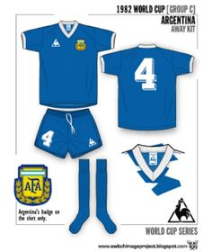 Argentina away kit for the 1982 World Cup Finals.