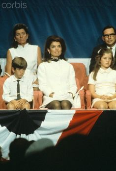 Kennedy family at the commissioning of the aircraft carrier, John. F. Kennedy, in 1967.
