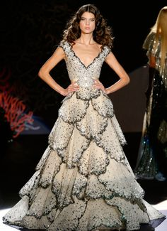 """Zuhair Murad s/s 2009. This is very reminiscent of Dior's famous """"Junon"""" (after the Roman goddess Juno) gown of 1949. So clearly it's an homage to that. Take a look: http://www.metmuseum.org/toah/works-of-art/C.I.53.40.5a-e"""