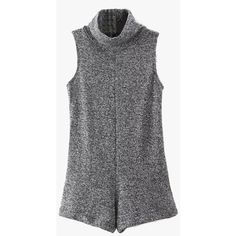 Sleeveless Knit Bodycon Romper ($44) ❤ liked on Polyvore featuring jumpsuits, rompers, dresses, romper, tops, grey, sleeveless rompers, playsuit romper, knit romper and sleeveless romper