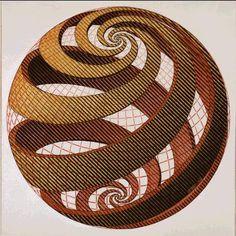 25. M.C. Escher. Sphere Spirals 1958