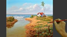Acrylic Landscape Painting in Time-lapse / Tropical Beach House / JMLiso... Acrylic Portrait Painting, Acrylic Painting Lessons, Tropical Beach Houses, Learn To Paint, Portraits, Landscape Paintings, Art Patterns, Youtube, Painting Tutorials