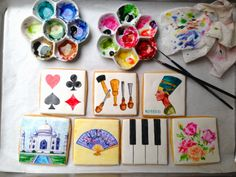 Watercolor technique by Baked Ideas #cookies #watercolorcookie #bakedideas