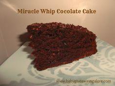 Miracle Whip Chocolate Cake #Recipe