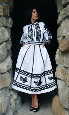 """Exclusive fancy dress """"Black and white luxury"""" – ? Stylish Dress Designs, Stylish Dresses, Simple Dresses, Casual Dresses, Fashion Dresses, Winter Dresses, Indian Designer Outfits, Designer Dresses, Pakistani Fashion Casual"""