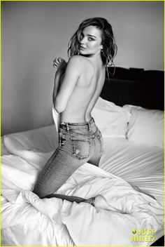 Miranda Kerr Goes Topless for 7 For All Mankind Campaign!