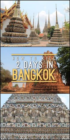 Thinking of spending 2 days in Bangkok, Thailand? Here's a list of things to keep you busy, including temples, day trips to markets and ruins and some great sunset spots.