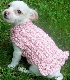 Crochet Pattern--------------Adorable Dog Sweater-------------For girls and boys.\
