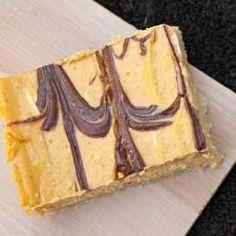 Nutella Swirled Pumpkin Cheesecake Bars