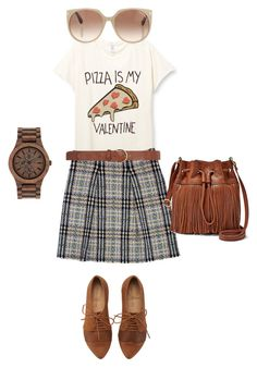 """""""Untitled #1"""" by nianaap ❤ liked on Polyvore featuring Burberry, FOSSIL, Tom Ford, Dorothy Perkins and WeWood"""