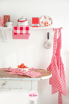 So Cute... red check kitchen decor