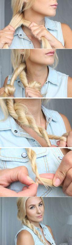 Nice and easy braid hairstyle - Sencillo trenzado para el cabello largo.