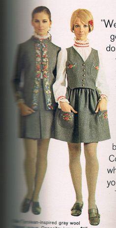 Seventeen 1968.  Regine Jaffrey and Cay Sanderson
