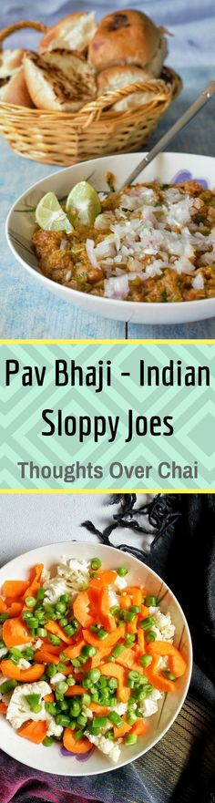 Pav Bhaji is a slow-cooked stew mashed vegetables spiked with aromatic spices, garnished with onions, coriander, dollop of butter and served with crisp buttered bread.