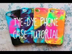 DIY TYE DYE Case Tutorial! (SUPER EASY!!) might do this 2 my life proof, but I'm afraid it would look bad & I would ruin my lifeproof