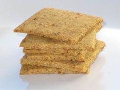 Savory Herb Crackers (almond and flax)