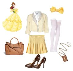 """""""Belle in high school"""" by cyphertbethany on Polyvore"""