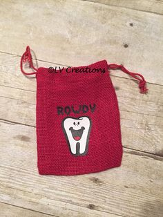 Personalized Tooth Fairy Bags Pillow Pouch Customized by llsocia