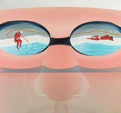 范揚宗_泳池系列-大鼻浸水_150x160cm_壓克力 畫布_2013   Flickr - 相片分享!