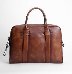 Leather Business Bag, Leather Laptop Briefcase GLT020