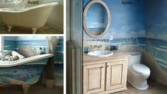 Salle de bain, fond marin