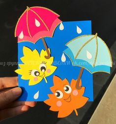 herbst fensterdeko kinder paper fall autumn craft for kids umbrella lavoretti Fall Crafts For Kids, Paper Crafts For Kids, Preschool Crafts, Art For Kids, Arts And Crafts, Diy Paper, Fall Classroom Decorations, School Decorations, Art Activities For Kids