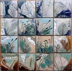 Ceramic tiles by Renske Hoekstra, 2018. Www.renskehoekstra.nl