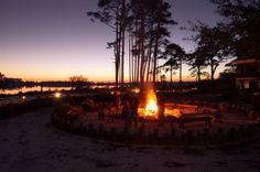 Wild Heron firepit  Betsy Hulsey, Realtor Beachy Beach Real Estate