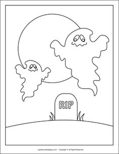 free halloween coloring pages ghost graveyard cemetery halloween coloring sheets