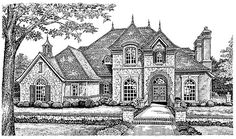 House Plan 66193 | French Country Victorian Plan with 3212 Sq. Ft., 4 Bedrooms, 4 Bathrooms, 3 Car Garage