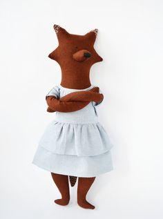 Allissa The Fox. Primitive toy the Fox. Child friendly toys. Soft Fox - Best Friend for kids