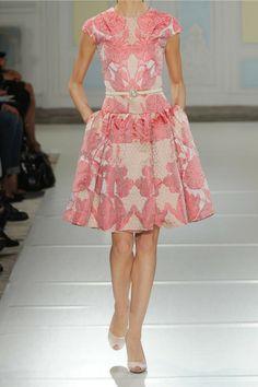 Temperley London Tula Jacquard Dress in Pink -