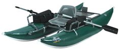 OUTCAST PAC 900 inflatable fishing boat is a very fine 9 ft pontoon: NO SALES TAX, and FREE domestic SHIPPING on Outcast rafts from the Caddis Fly Shop Our Caddis Fly Shop staff have personal experience with anglers and guides who fish the PAC series of inflatable fishing boats.  We can help you choose the best boat and appropriate accessories, plus delivery in prompt fashion.    These OUTCAST PAC 900 fishing boat features the highest standards in the industry, with a 10 year warranty.  Easy…