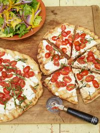 Crispy Healthy Grilled Vegetarian Pizza! Making this pizza on the grill gives it a crispy, smokey taste! | womens health