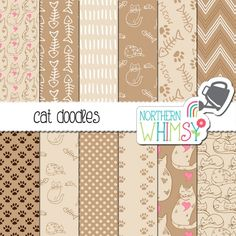 #newarrival at Luvly - #Cat #Digital #Paper - http://luvly.co/items/4714/Cat-Digital-Paper