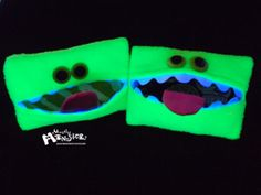 Kleenex KreatureTissue Holder Neon GREEN by MostlyMonstersCV – Now you won't lose your Kleenex® Tissues in the bottom of your purse!