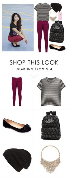 """""""Jasmine Thompson wattpad story outfit"""" by frozenivoryheart ❤ liked on Polyvore featuring Great Plains, Monki, Machi, Vans, Phase 3 and Bebe"""