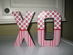 """XO - Great for a Mantel Decoration $14 email me at: ssalaska@yahoo.com also check me out on facebbok """"my block of wood"""""""