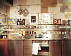 Le plan de travail cuisine en métal