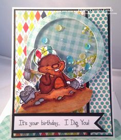 Claire Broadwater: Claire Creates Cards –  It's Your Birthday- SugarPea Birthday Bash - 1/22/15  (Sugar Pea stamps: Go-Pher It! It!)