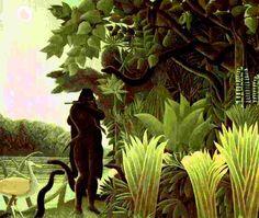 Tableau réalisé en 1907 par Henri-Julien-Félix Rousseau (Le Douanier Rousseau)  Dimensions : 1,90 m x 1,69 m  Matériaux : Peinture à l'huile sur toile  Lieu : Musée d'Orsay ( Deuxième étage - Section 42)