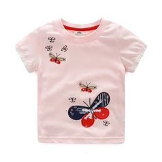 Check out my new Pastel Pink Butterfly Appliqued Short Sleeve Cotton Tee for Toddler Girls and Girls, snagged at a crazy discounted price with the PatPat app. Baby Outfits Newborn, Baby Boy Outfits, Kids Outfits, Baby Girl Fashion, Kids Fashion, Kids Girls Tops, Toddler Girls, Cute Tshirt Designs, Baby Boy Suit