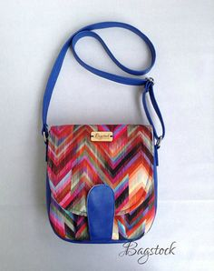 Chevron Sandra saddle bag - Cross body bag - Ready to ship