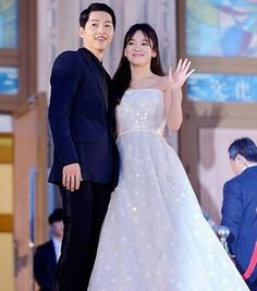 Wedding rumors of Song couple started making rounds after a cosmetic brand congratulated Song Hye Kyo.