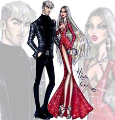 Hayden Williams Fashion Illustrations: New Year Couture 2016 by Hayden Williams