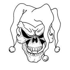 Free Printable Skull Tattoo Designs  Joker Skull Tattoo   Here My ...